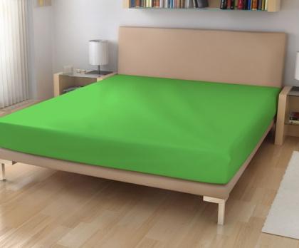 Elastická froté prostěradla sytě zelená 20