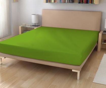 Elastická froté prostěradla zelená khaki 39