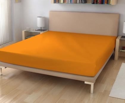 Elastická froté prostěradla světle oranžová 44