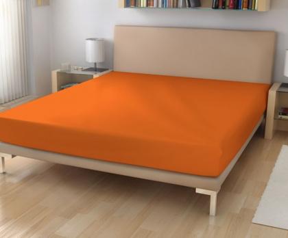 Jersey prostěradla oranžová 15