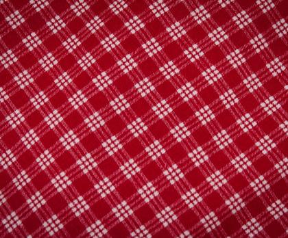 Bavlna kostička červená POZITIV