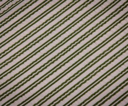 Bavlna LEVANDULE proužek zelený