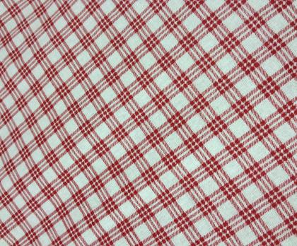 Bavlna kostička červená NEGATIV