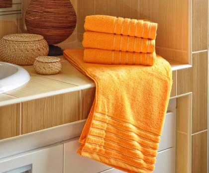 Ručník, osuška EMA oranžová