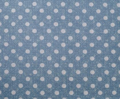 Bavlna PUNTÍK modrý