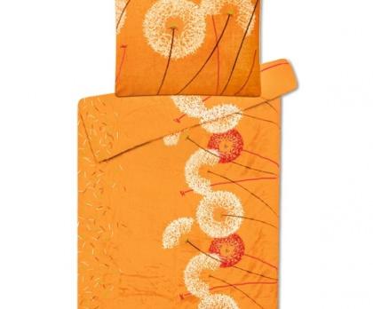 Povlečení mikroflanel SLEEP WELL pampeliška oranžová
