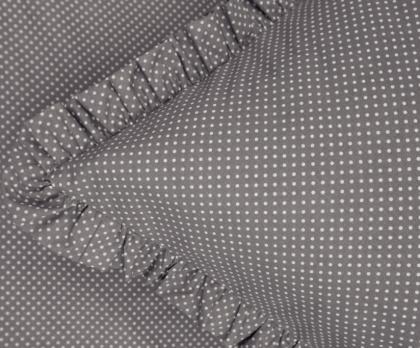 Bavlněné povlečení ŠEDÝ mini puntík s kanýrem