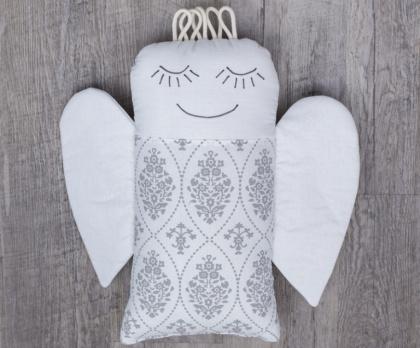 Plněný polštářek ANDĚL ornament negativ