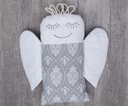 Plněný polštářek ANDĚL ornament pozitiv