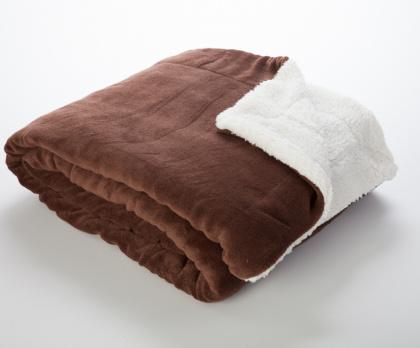 Beránek deka z mikrovlákna ČOKOLÁDA / smetana
