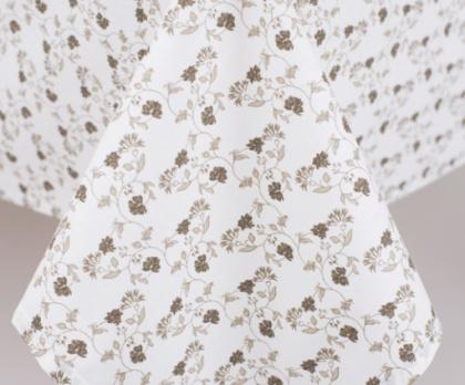 Ubrus bavlněný KVÍTEK BÉŽOVÝ (k patchworku)