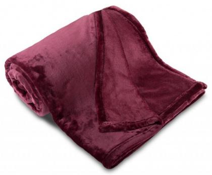 Deka mikroflanel SLEEP WELL® tmavě fialová
