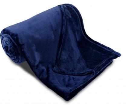 Deka mikroflanel SLEEP WELL® tmavě modrá