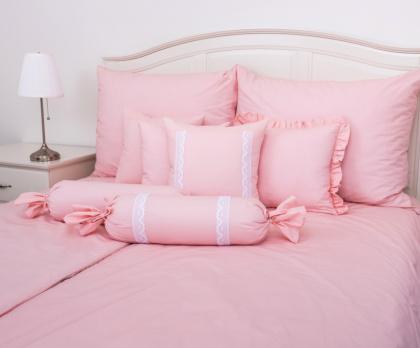 Bavlněné povlečení UNI pink