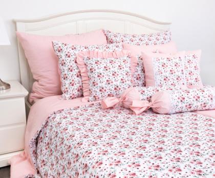 Bavlněné povlečení ROSE / UNI pink