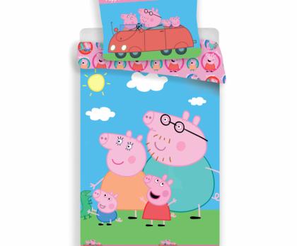 Bavlněné povlečení PEPPA PIG rodina