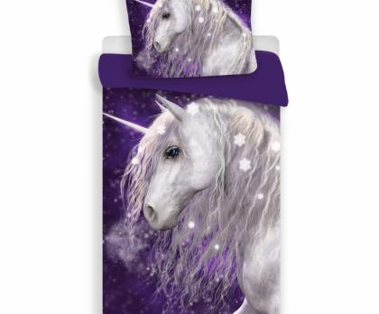 Bavlněné povlečení UNICORN purple